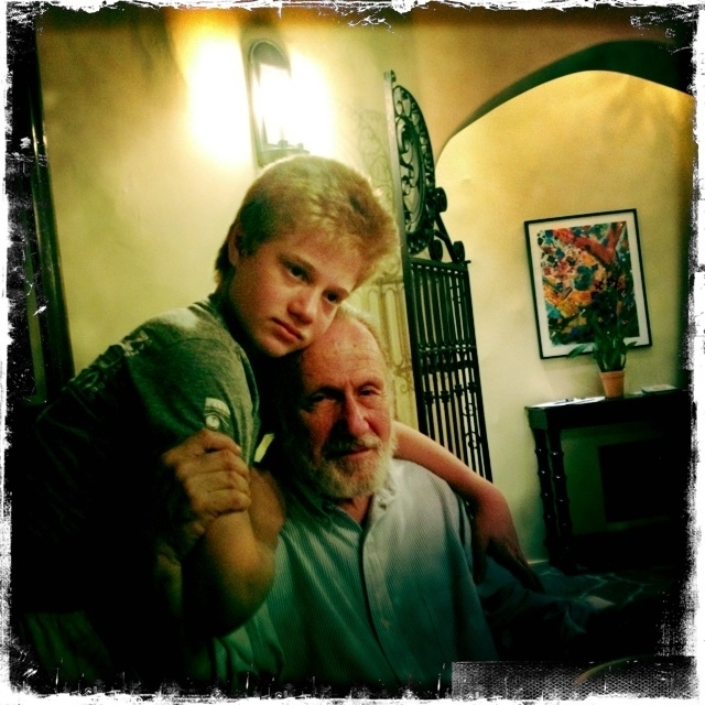Eli, my beloved grandson...and me.
