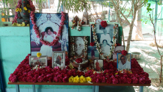 Our beloved puja table.