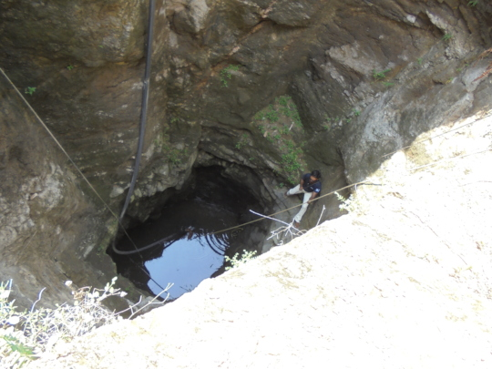 Vishwa on a well rescue.