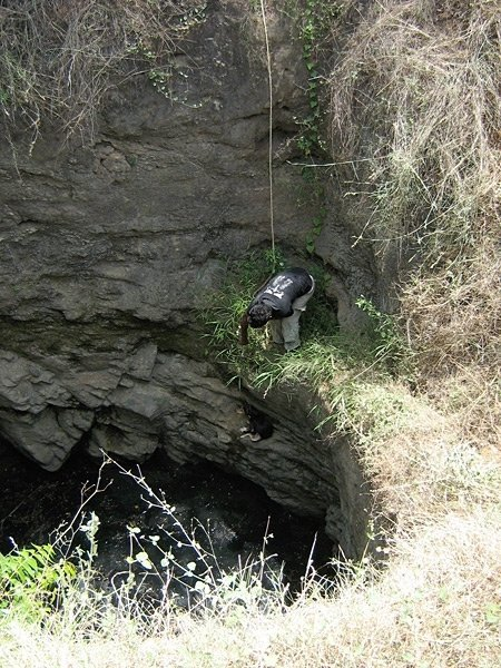 Vishwa on another deep, deep  well rescue.