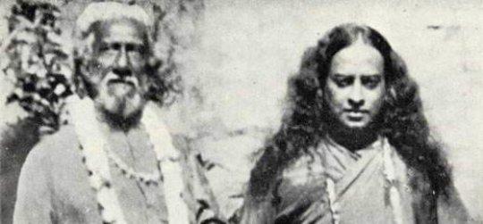 Swami Yogananda and his Guru, Sri Yukteswar.