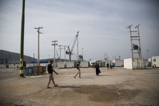 Skaramagas Camp with pre-fab housing containers