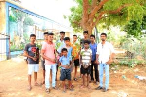our volunteers in planting works
