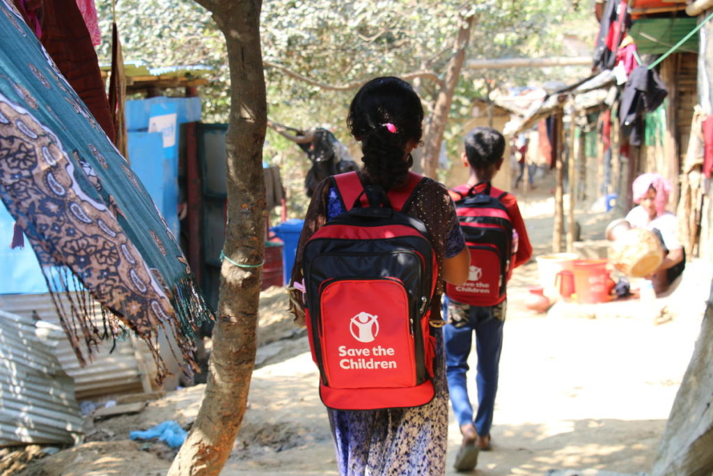 Hasina goes to a Save the Children learning center