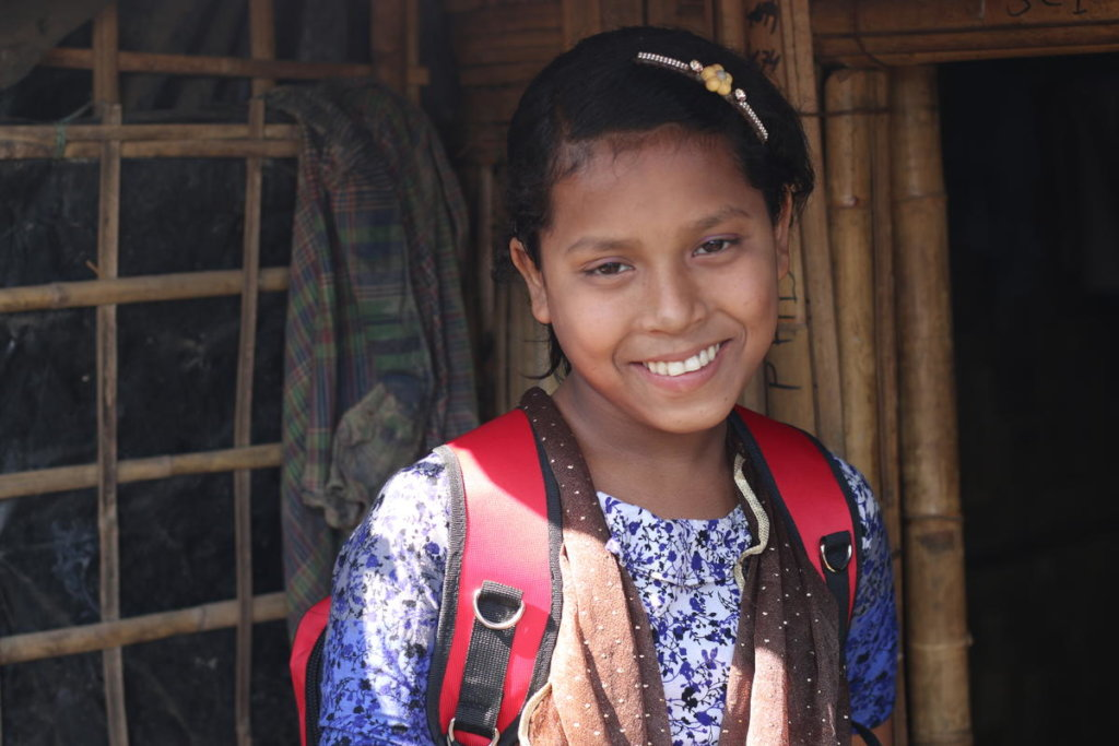 Hasina a 13 year old Rohingya refugee