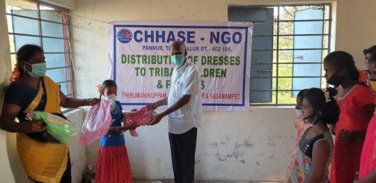 Children happy with new dresses