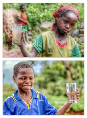 Before and After - now the water is safe to drink!