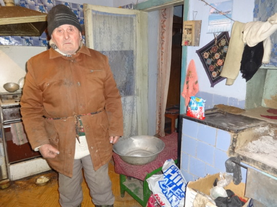 Petru, our beneficiary. Home reality.