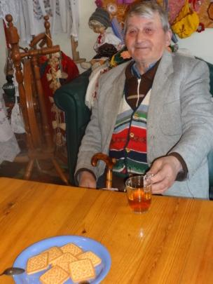 Petru having tea within Day Care Center!