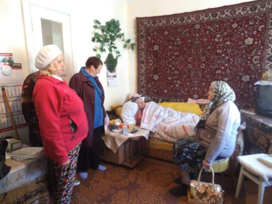 Visiting a bedridden elderly at home!