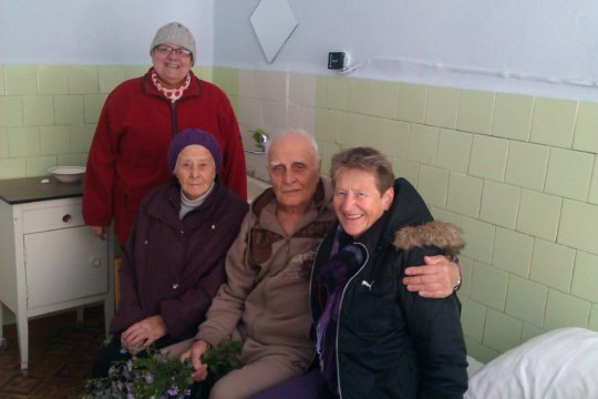 Visiting an elderly in the hospital: We are family