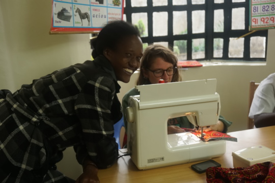 Our most recent donation, a Janome sewing machine
