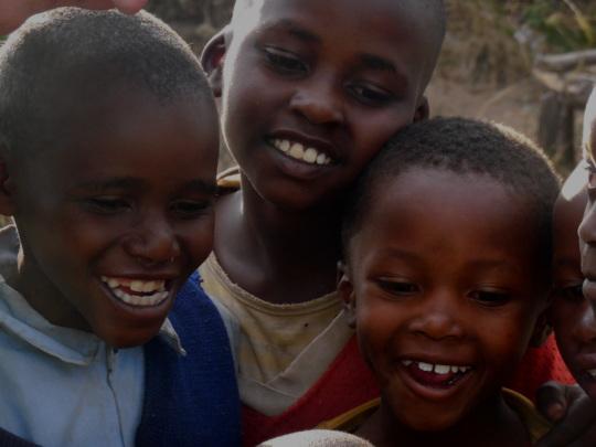 Children at our food hamper distribution last week