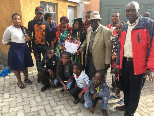 Some of Margaret's proud family members at graduat