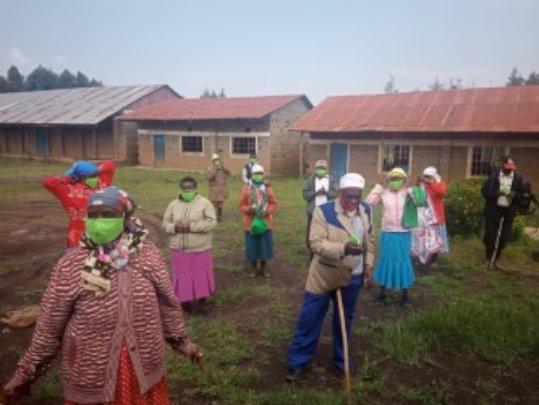 Elderly recipients of our food distribution progr