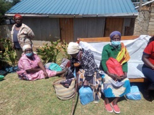 Elderly recipients of our food hamper program
