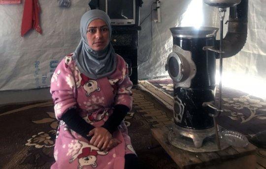 Fatima* in her tent