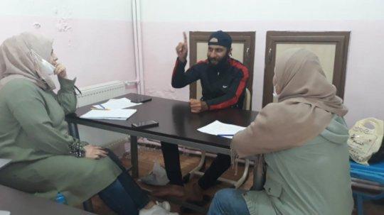 Jasem with Concern staff. Photo: Concern Worldwide