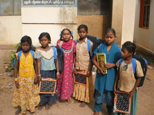 A group of tribe girls supported by us