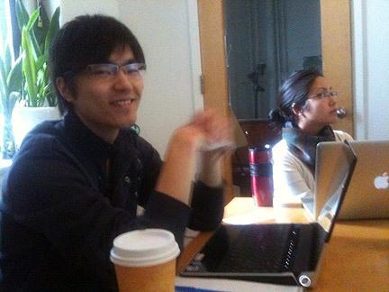 Bo Wang, interning at Green Map System