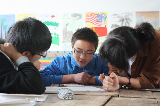 Aaron's students mapped Wanan Village for visitors