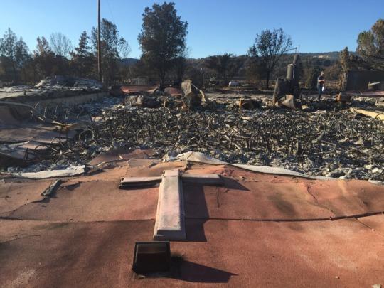 Hidden Valley Structure Destroyed