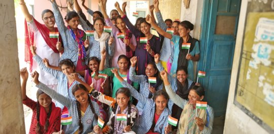 Girl Trainees Celebrated Independence Day
