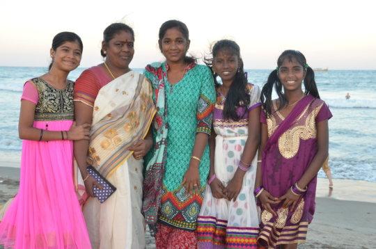 Children at Puducherry Beach