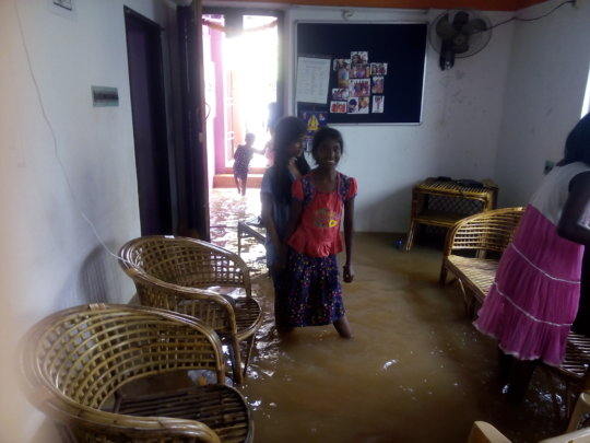 Flood in Janani Home for Girl Children