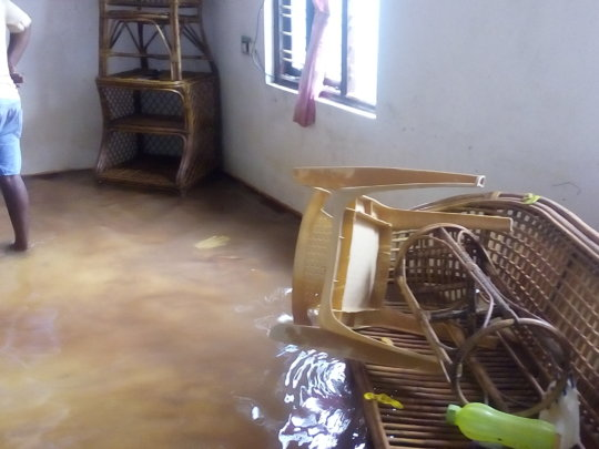 Flood in Janani Home for children