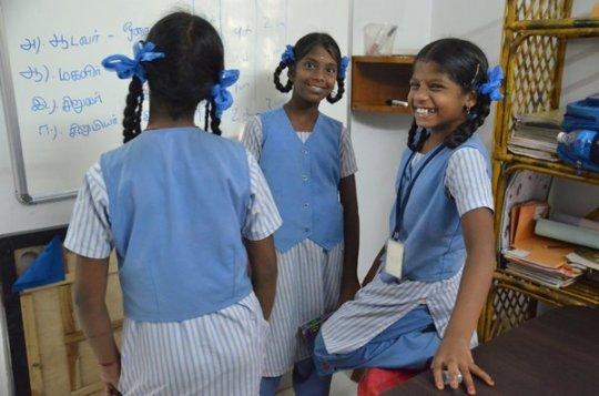 Children at their study