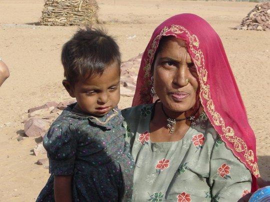Radha Bai with her son