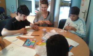 Psycho-social help for children refugees