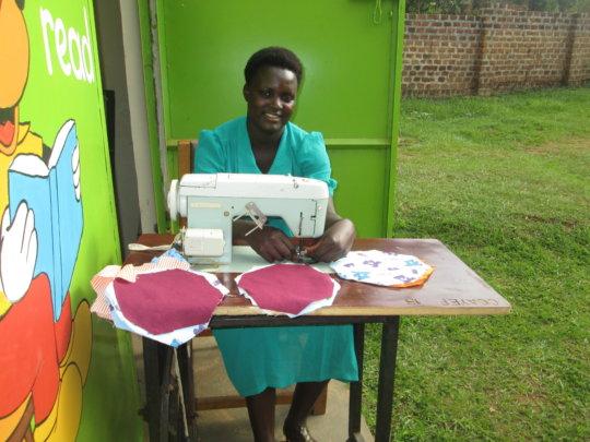 Train Ugandan ex-brides in tailoring and fashion.