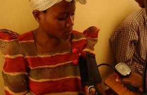 Woman in IAVI-MRC Clinic in Uganda