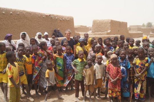 Children in Kakondji village