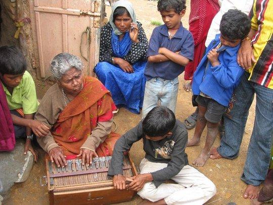 Playing the Harmonium
