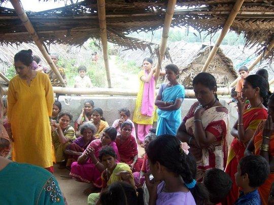 Women & Children at Alemari's First Clinic