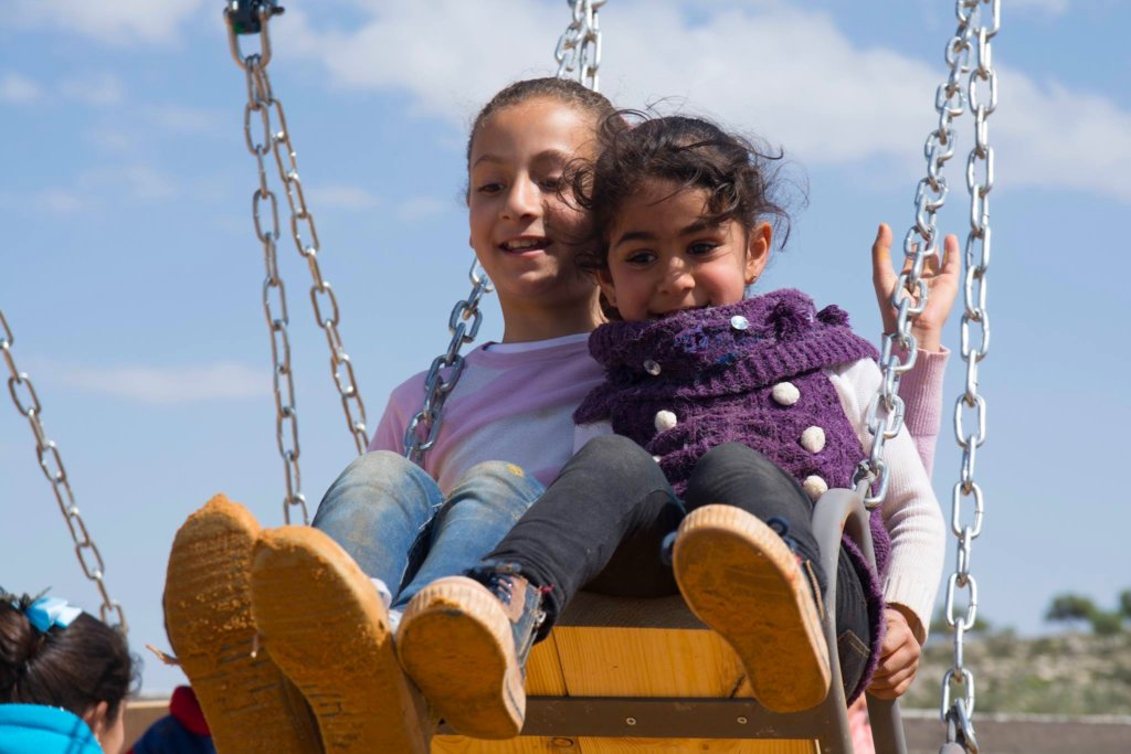 The freedom of the first swingset in Ein Yanoun