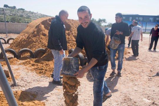 C4P group building the playground in Yanoun