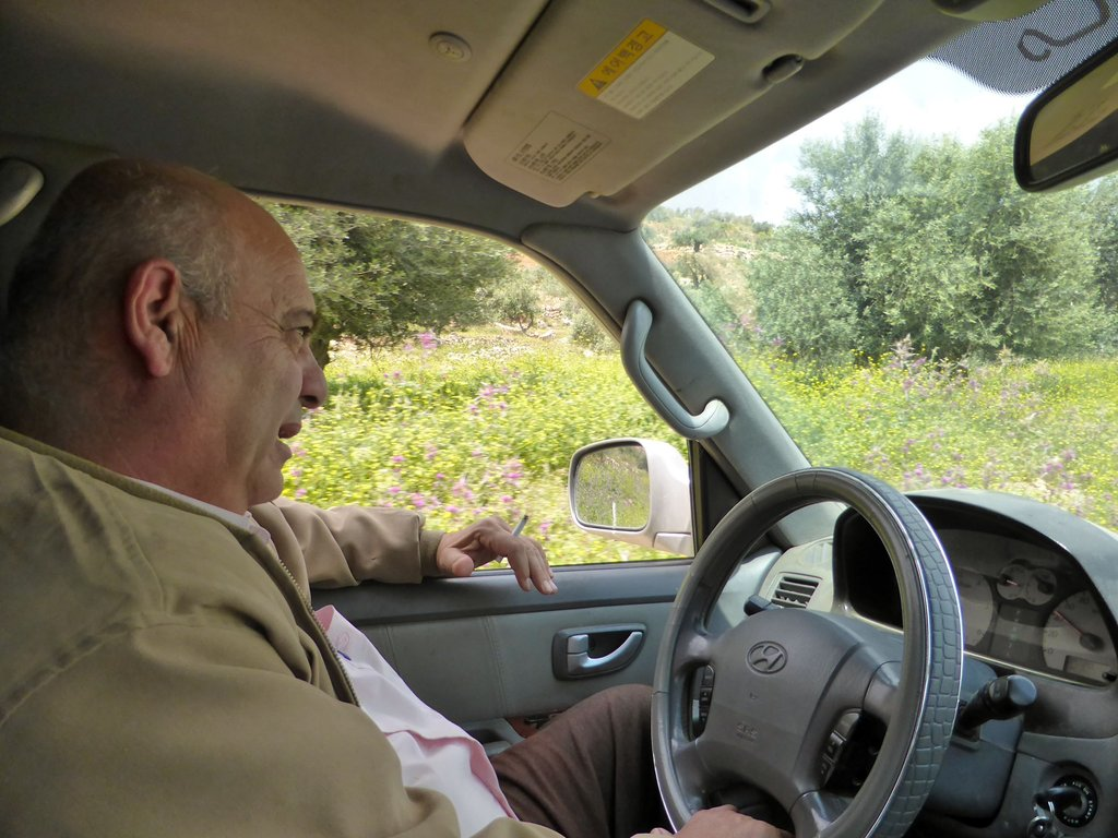 Abu Mohammed from Combatants for Peace drove us