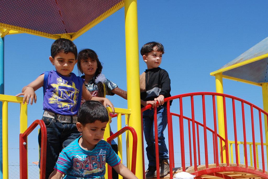 Kindergarteners use this playground daily