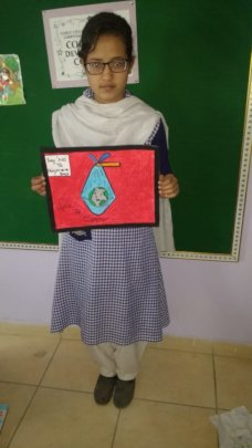 For art competition on tackling plastic pollution