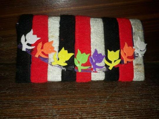 Woolen wallet made by Grade 7 student