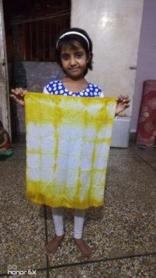 Turmeric tie dye - a kitchen art activity