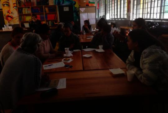 Literacy training session