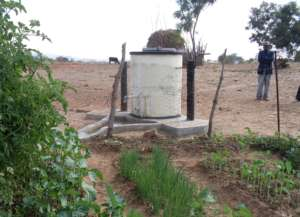An example of a well built by Pump Aid