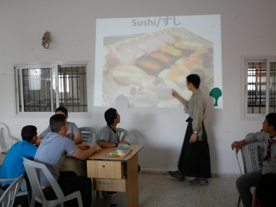 Sushi in Al Aqaba! Teacher Yuhki Ohnogi from Japan