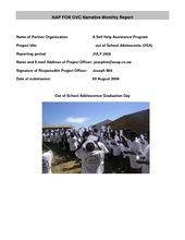 Project  Report from July from Zimbabwe  (PDF)