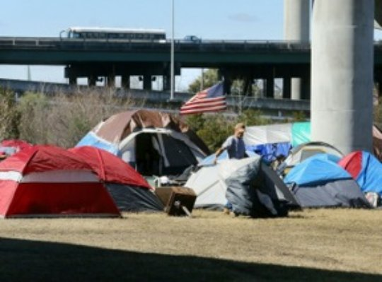 Tent City before removal in Charleston